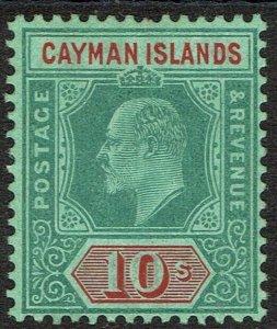CAYMAN ISLANDS 1907 KEVII 10/-