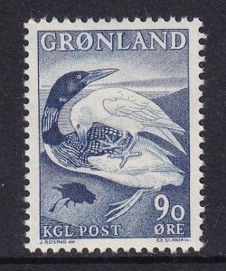 Greenland  #45  MNH  1969  diver and the raven  90o