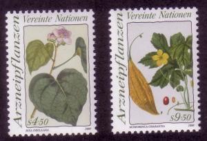 UN Vienna Sc# 101 / 102 Medicinal Plants 1990 MNH