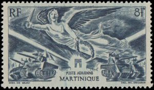 1946 Martinique #C3, Complete Set, Hinged