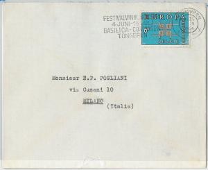 59781 -  ITALY - POSTAL HISTORY:  COVER  1964 -  MUSIC
