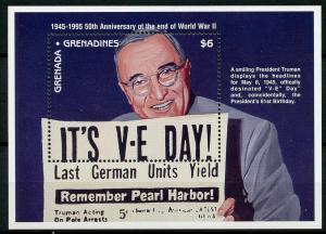 Grenadines Grenada 1995 MNH WWII WW2 VE Day End World War II 1v SS Truman Stamps
