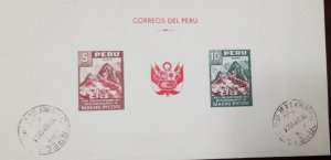 O) 1961 PERU, MACHU PICCHU, WAS SOLD ISSUED, DISCOVERY OF THE RUINS, ANCIENT INC