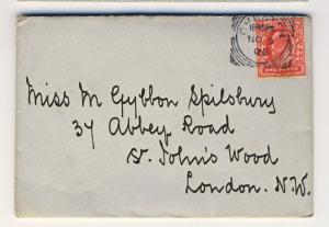 GB - 1905 KEVII 1d SG219 Canc'd Squared Circle DS of CHESTER on Cover to LONDON