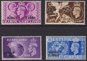 1948 Bahrain complete Olympic set MLH Sc# 64 65 66 67 CV $7.00 Stk #2