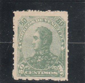 Venezuela  Scott#  94  MH  (1887 Bolivar)