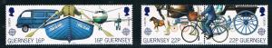 GuernseySC381-384Communication of Transp.Europa'88 382a&384aContinuousDesignMNH