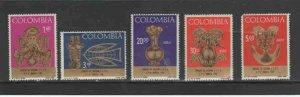 COLOMBIA #772-773,C495-97 1967 PRE-COLUMBIAN ART MINT VF NH O.G