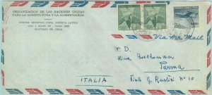 84255 -  CHILE -  POSTAL HISTORY -   AIRMAIL COVER  to ITALY  1962