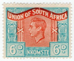 (I.B) South Africa Revenue : Duty Stamp 6d (language error)