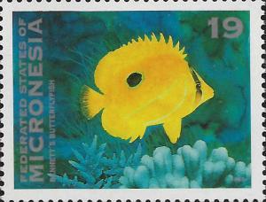 MICRONESIA, 158, MNH, BENNETT'S BUTTERFLYFISH