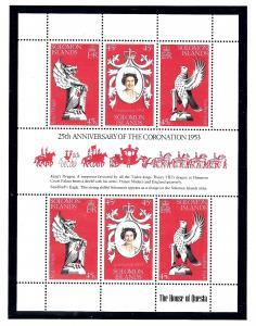 Solomon Is 368 MNH 1978 QEII Silver Jubilee Sheet