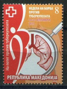131 - MACEDONIA 2011 - Red Cross - Tuberculosis - MNH Set