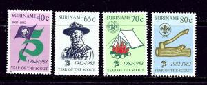 Surinam 625-28 MNH 1983 Scouting Year