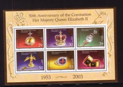 Jersey Sc 1090a 2003 Coronation 50 Years stamp sheet mint NH
