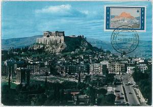 37242   MAXIMUM CARD  - GREECE : ARCHITECTURE 1963