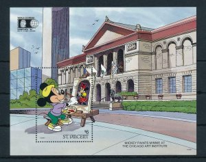 [23270] St. Vincent 1992 Disney Mickey Mouse at Chicago Art Institute MNH