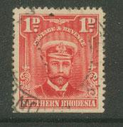 Southern Rhodesia SG 2 Fine Used   Bottom imperf