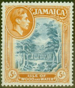 Jamaica 1938 5s Slate-Blue & Yellow-Orange SG132 V.F MNH