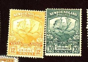NEWFOUNDLAND #122-3 MINT FVF OG HR 122 TINY THIN 123 PINHOLE Cat $83