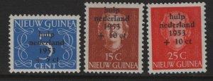 DUTCH NEW GUINEA  B1-B3  MNH SURCHARGED SET 1953
