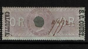 India 10R S.C. Court Calcutta, Used, BF# 52, Type B, see notes - S2021