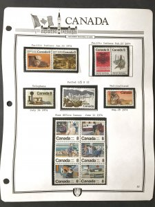 Canada #282//2194 MNH on Page with Mounts (1949-2006) #30