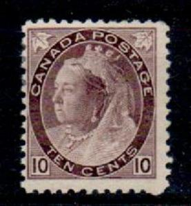 CANADA SG163 1898 10c PALE BROWNISH-PURPLE MTD MINT
