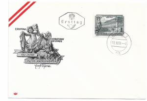 Austria 589 150th State Theater Unaddressed FDC First Day Cover