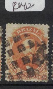 Brazil 1866 200R SC 59 Cork Cancel Item 5 VFU (10dqu)