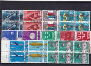 switzerland  used stamps blocks  Ref 10301
