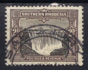 Southern Rhodesia 1931 - 37 KGV 2d Black & Sepia used SG 17 ( C1379 )