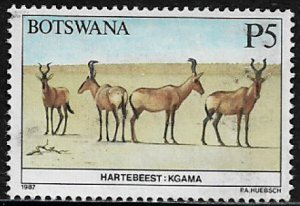 Botswana #423 Used Stamp - Wild Animals - Hartebeest
