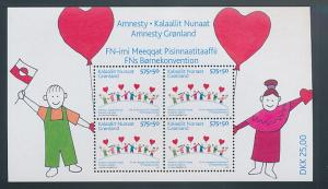 Greenland Sc B32a 2007 Amnesty stamp sheet mint NH