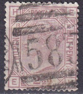 Great Britain #67 Plate 13 F-VF Used  CV $60..00 (Z4521)