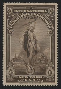 UNITED STATES 1936 New York International Philatelic Exhibition   - BARNEYS