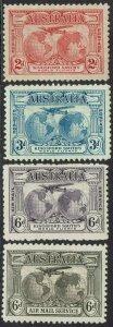 AUSTRALIA 1931 AIRMAIL SET INCLUDING BOTH 6D COLOURS