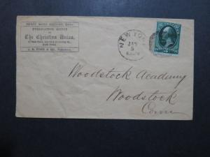 US 1880s The Christian Union Cacheted Cover / H W BEECHER Editor - Z9146