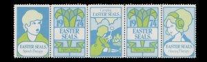 USA CINDERELLA STAMP. EASTER SEAL 1974. UNUSED. # 30