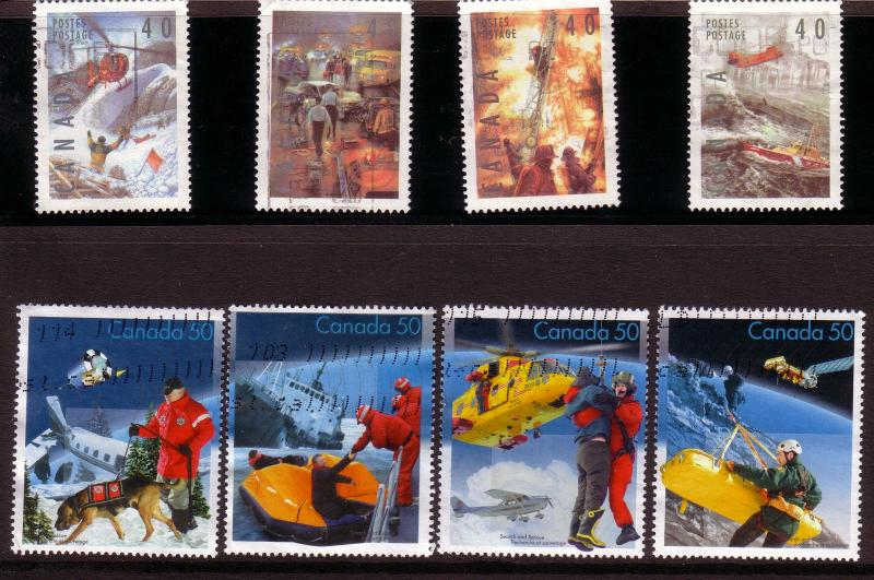 CANADA SET OF DANGEROUS OCCUPATIONS  (8) USED STAMPS  LOT#113