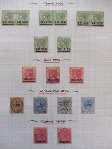 Straits QV 1892-99 overprints