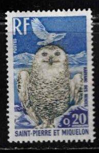 ST PIERRE & MIQUELON Scott # 425 MH - Bird - Snow Owl