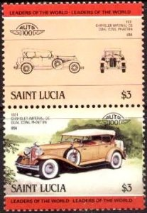 Automobile, Chrysler Imperial CG, 1931, St. Lucia stamp SC#693 MNH
