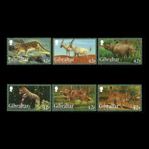 Gibraltar MNH 1353-8 Endangered Animals Wildlife 2013