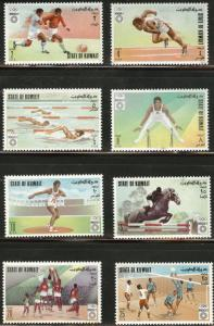 Kuwait Scott 549-556 Munich Olympic Games set MNH** 1972