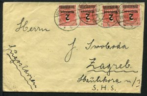Germany Inflation 1923 Special Hungary Rate Mis-used to Croatia, Mi 312A