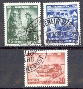 German Democratic Republic Sc# 255-257 Used 1955 Land-Reform Program 10th