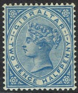 GIBRALTAR 1886 QV 21/2D BLUE