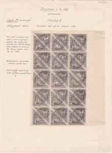 COGH39) Cape of Good Hope Spiro Lithographed  Forgery of the 6d Greyish Slate