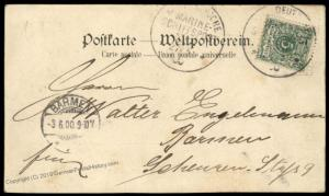 Germany 1900 China Dresden Steamer Boxer Rebellion MSP5 Cover Pyramids Egy 88192